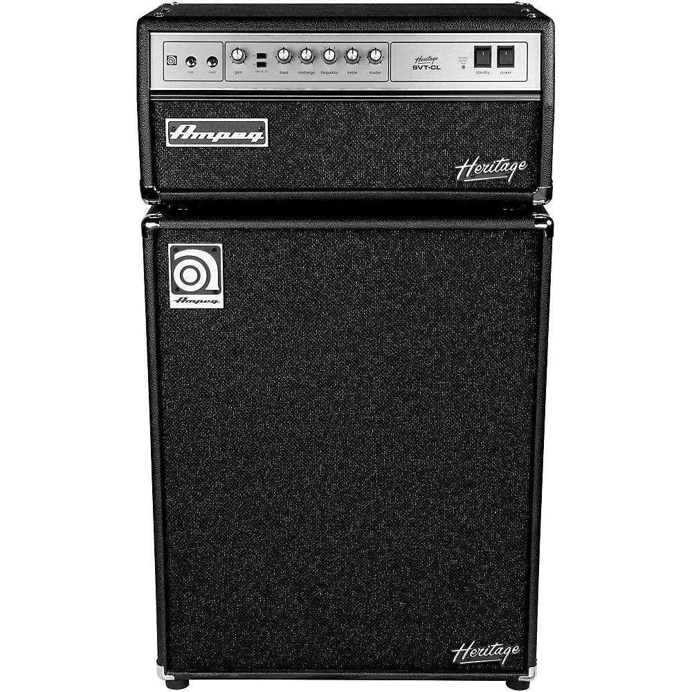Click here to buy Ampeg Heritage SVT-CL 300W Tube Bass Amp Head�with 4x10 500W Bass Speaker Cab by Ampeg.