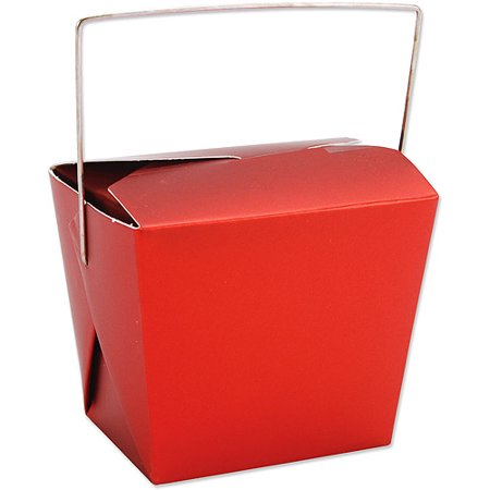 8-Oz. Noodle Boxes 5-Pack, Red Metallic