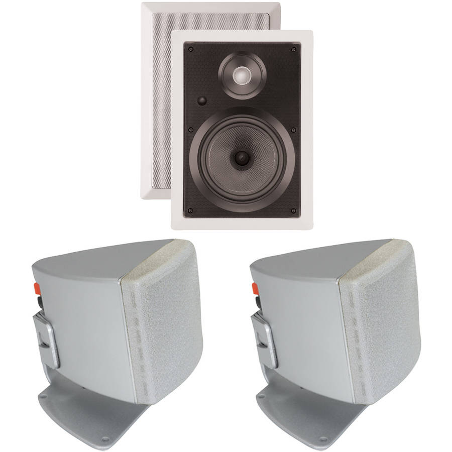 "ArchiTech PS-602 6.5"" Kevlar In-Wall Speakers and Bonus Speakers"