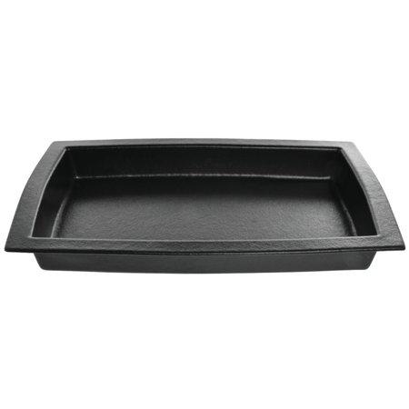 "Bugambilia 5 1/4 Liter Rectangular Black Cast Aluminum Bowl - 20 1/2""L x 12 1/4""W x 2 1/2""D (TPUD15BB)"