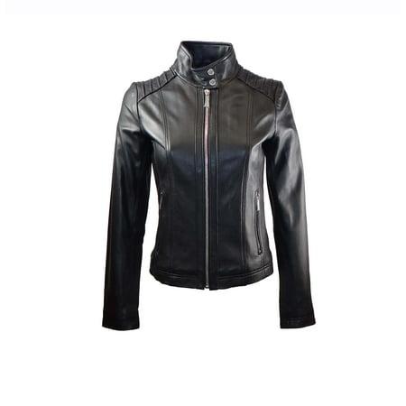 - Michael Kors Moto Leather Jacket