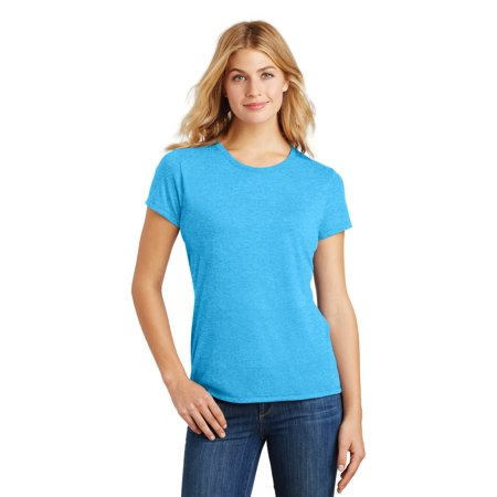 District Made® Ladies Perfect Tri® Crew Tee. Dm130l Turquoise Frost M - image 1 de 1