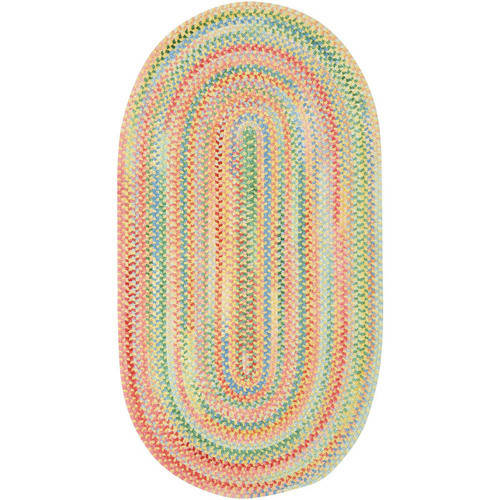 Baby's Breath Oval Braided Area Rug