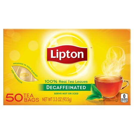 Lipton Black Tea Caffeine ((3 Pack) Lipton Decaffeinated Black Tea Bags, 50)