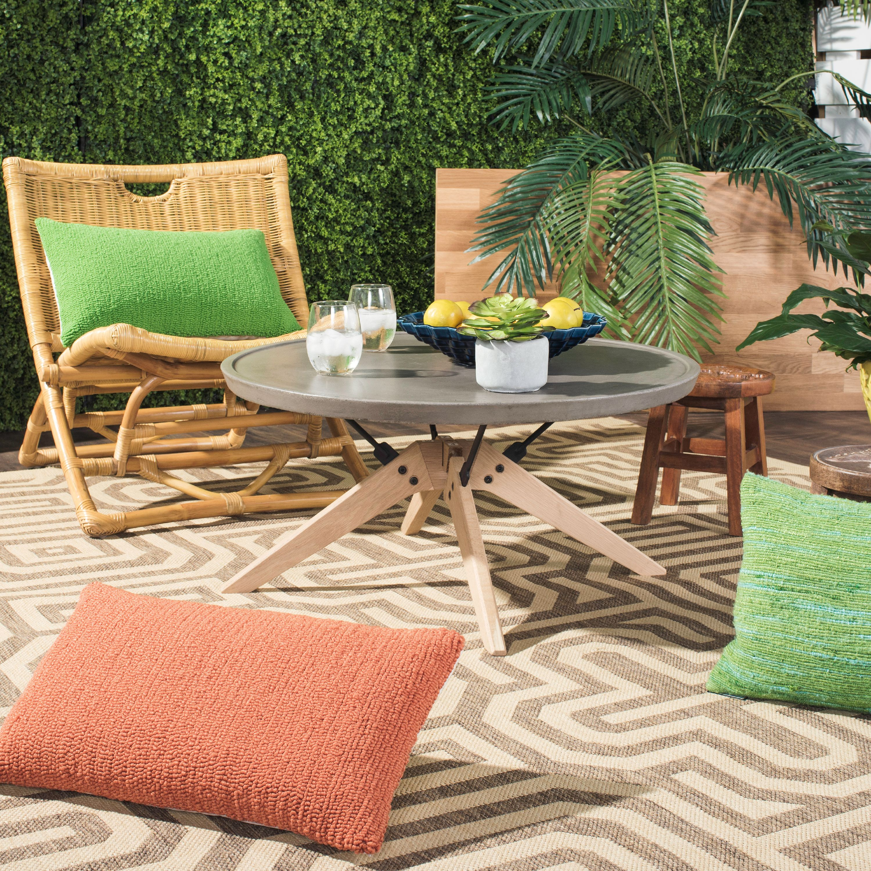 Safavieh Bryson Indoor Outdoor Modern Concrete Round Coffee Table by Safavieh