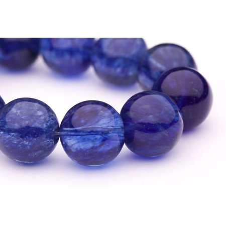 Round - Shaped Blue Quartz Crystal Imitation Beads Semi Precious Gemstones Size: 18x18mm Crystal Energy Stone Healing Power for Jewelry