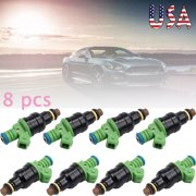 ESYNIC 8pcs Fuel Injectors 42lb EV1 For Bosch Chevrolet Pontiac Ford TBI LT1 440cc,OEM#0280150558 0280155968