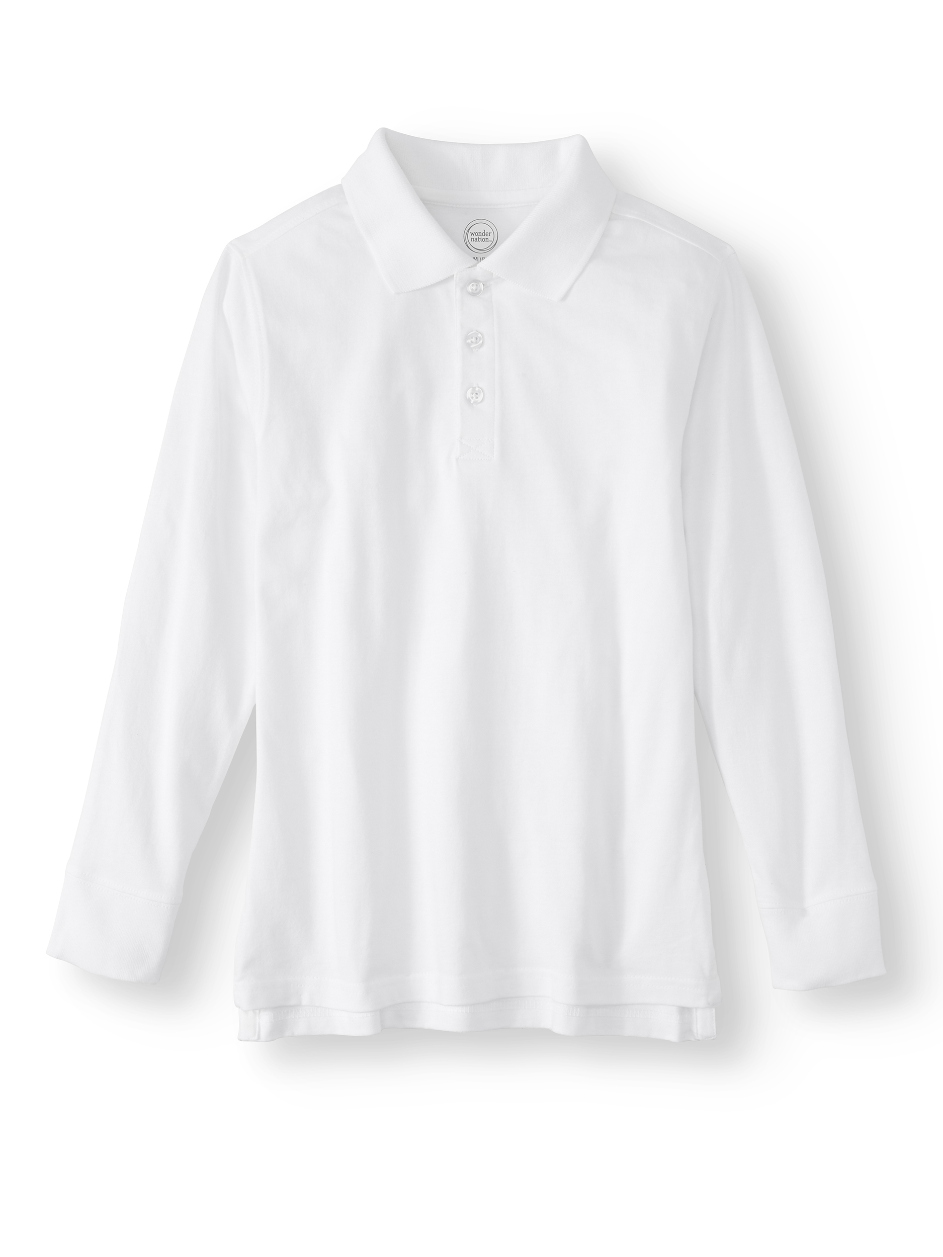 Long Sleeve Cotton Polo (Little Boys & Big Boys)