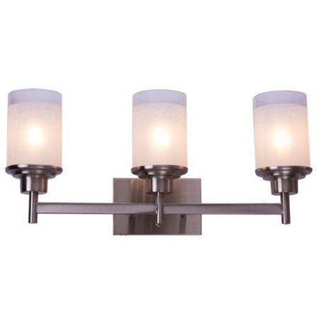22 Inch 3 Light Led Vanity Fixture Brushed Nickel Wall Sconces Walmart Com
