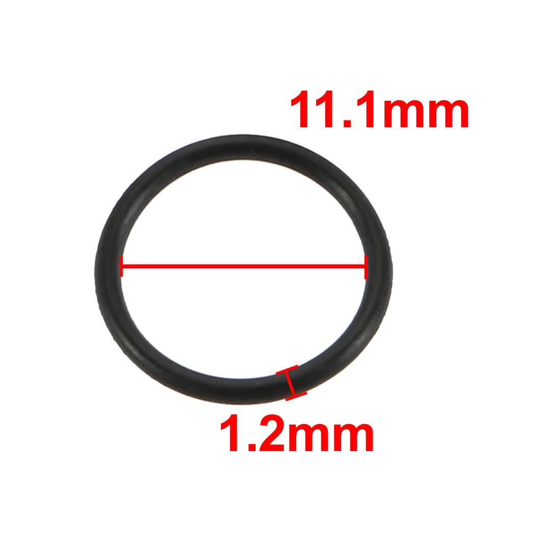 20pcs Black Nitrile Butadiene Rubber NBR O-Ring 11.1mm Inner Dia 1.2mm Width - image 1 of 2