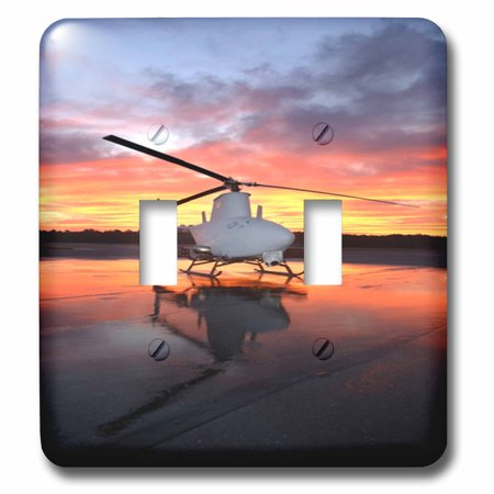 3dRose Navys Fire Scout Helicopter At Sunrise - Double Toggle Switch (lsp_80381_2)](Scout Helicopter)