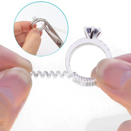 6pcs Invisible Ring Size Adjuster TPU Ring Guard Clear Ring Size Reducer for Loose