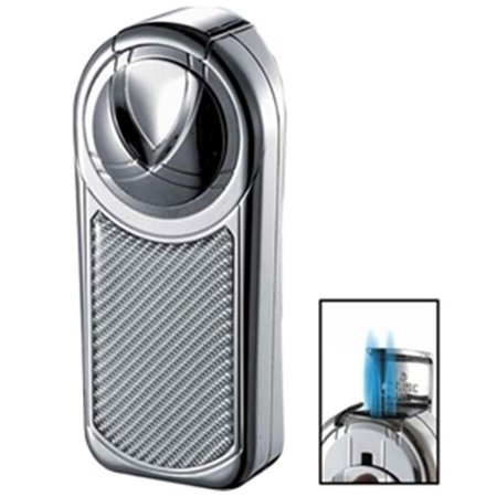 Dobrev III Triple Jet Flame Chrome White Carbon Fiber Cigar Lighter