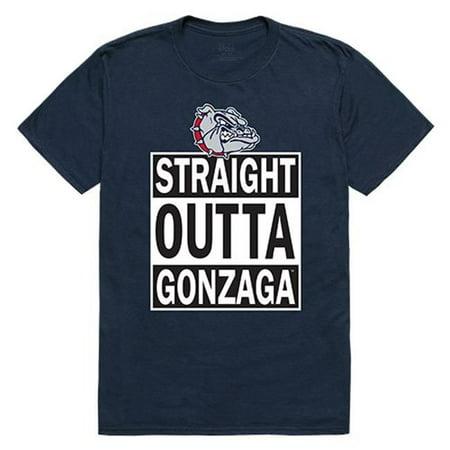W Republic Apparel 511-187-BGT-02 Gonzaga University Straight Outta Mens Tee Shirt - Navy, Medium - image 1 de 1