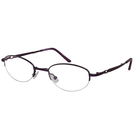e6c9df4ed754 Ebe Reading Glasses Womens Oval Violet Folding Half Rim Stainless Steel Anti  Glare remarkable grade yt859 - Walmart.com