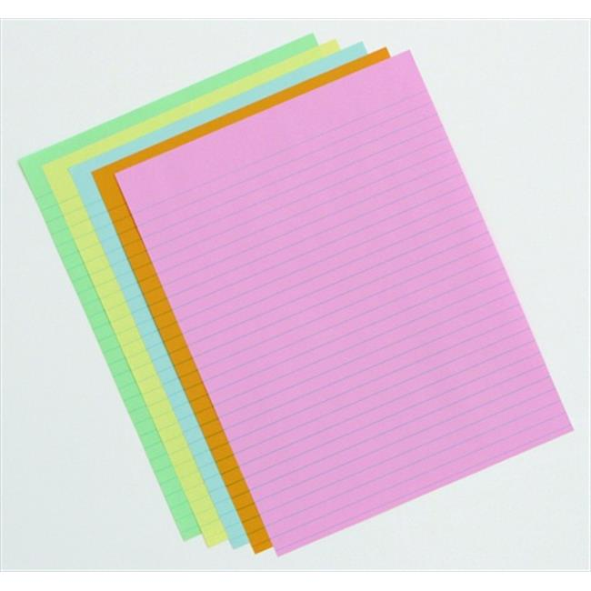 School Smart 085454 8.5 x 11 In. Ruled Exhibit Paper Assortment, Assorted Color, Pack - 500