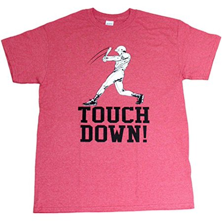 Touchdown Funny Baseball Football Sports Mens Unisex T-shirt Heather Red (X-Large)