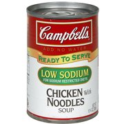 Campbell's Low Sodium Chicken Soup With Noodles, 10.75 oz (Pack of 12)