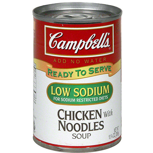 campbell's low sodium chicken soup with noodles, 10.75 oz (pack of, Skeleton