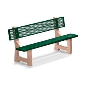 Petersen Trinidad 6-ft. Concrete and Steel Commercial Park Bench