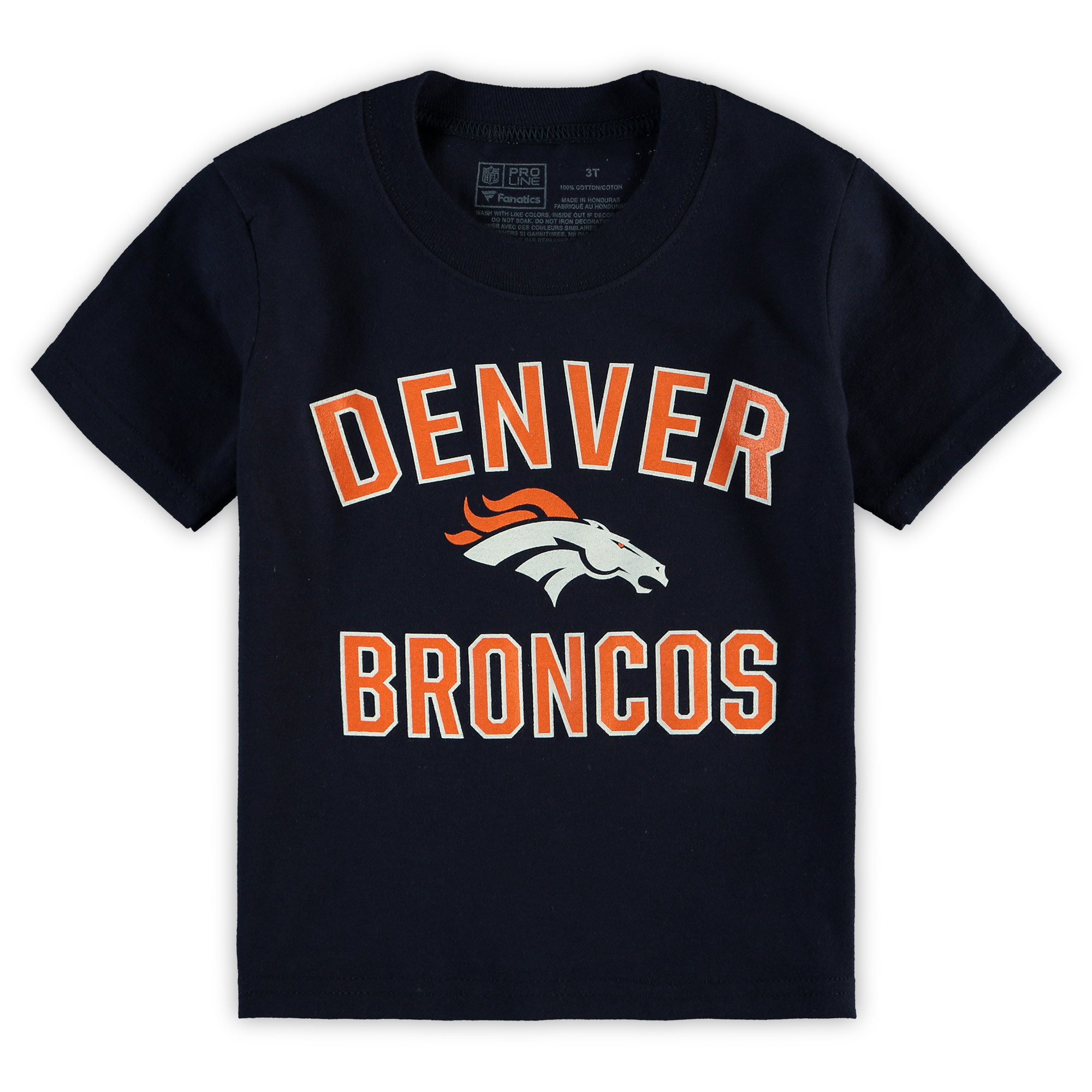 Denver Broncos NFL Pro Line by Fanatics Branded Toddler Team Victory Arch T-Shirt - Navy