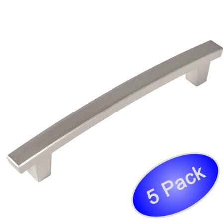 4 Pack Hardware (Cosmas 5238SN Satin Nickel Contemporary Cabinet Hardware Handle Pull - 4