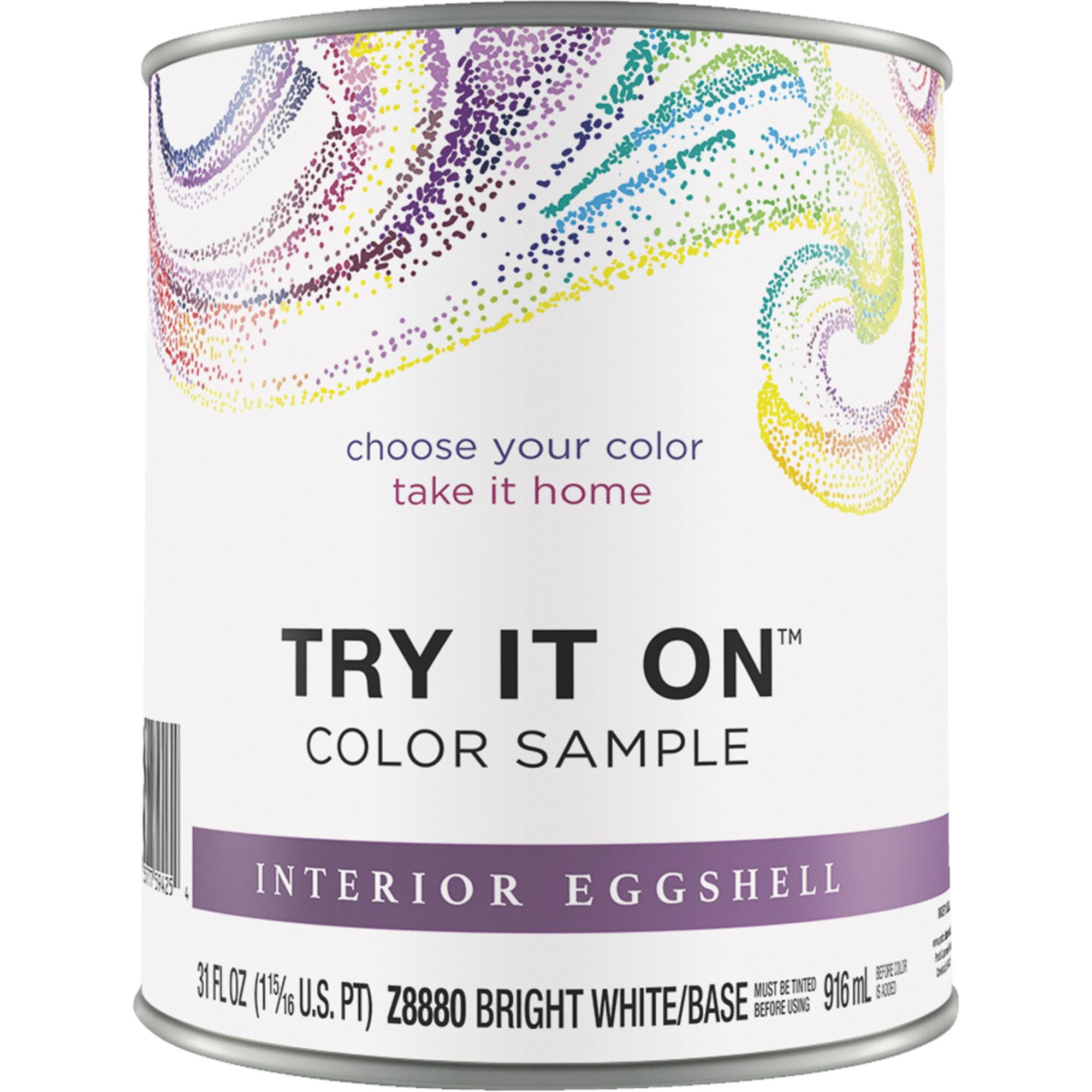 Try It On Eggshell Interior Paint Color Sample