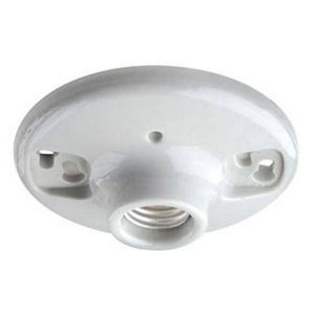 Porcelain Lampholder - Leviton 81902 - Standard Base Porcelain Receptacle Socket (#9875 Medium base porcelain lamp holder)