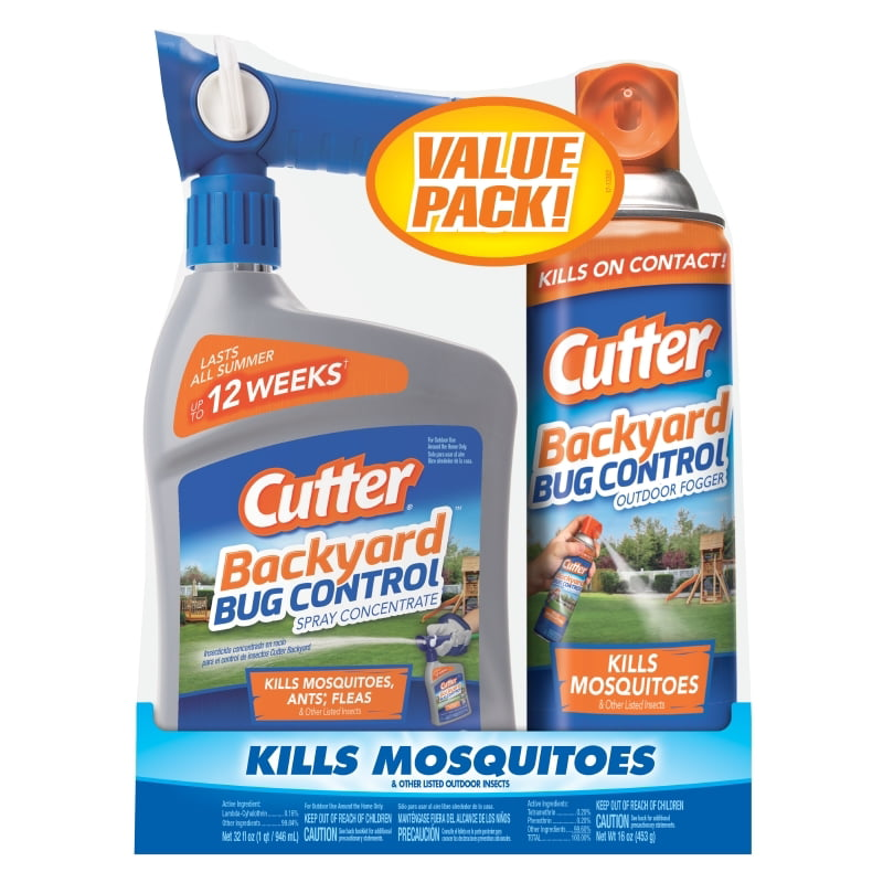 Cutter Backyard Bug Control Combo Pack, Insect Killer, 2