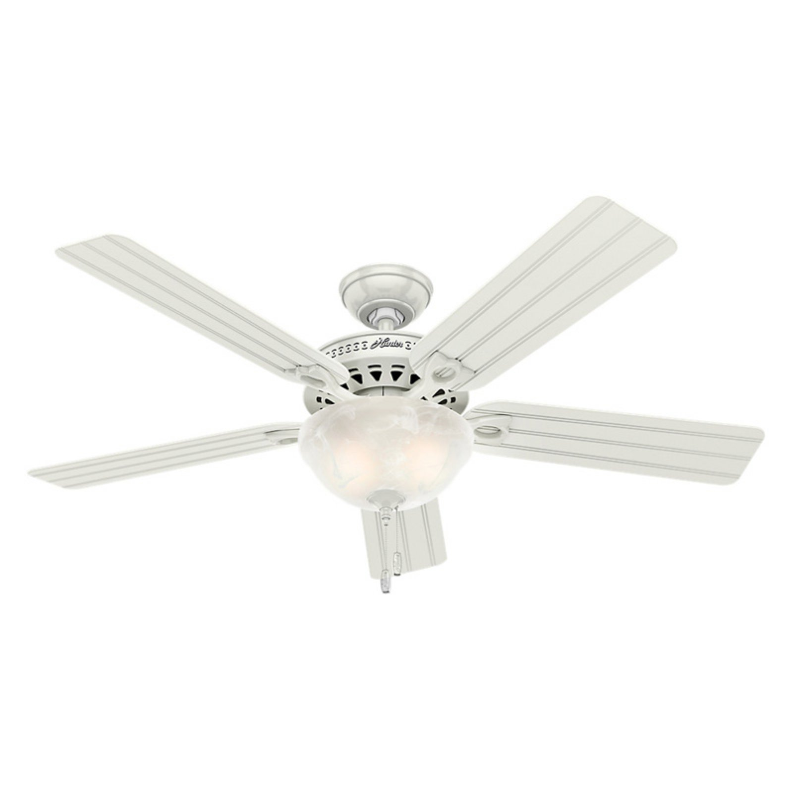 Indoor/Outdoor Ceiling Fan With Light   White Part 69