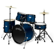 Ashthorpe 5-Piece Complete Full Size Adult Drum Set with Remo Batter Heads - Multiple Colors