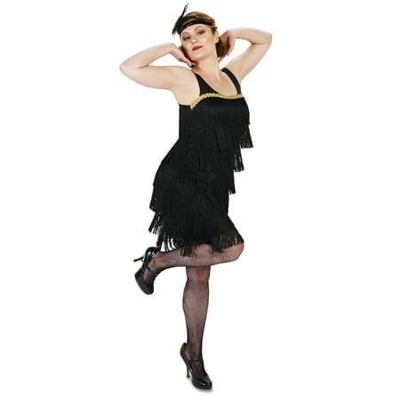Black Flapper Adult Costume - Flapper Gloves Black