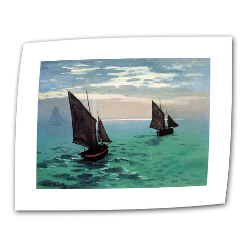 ArtWall ''Two Sailboats'' by Claude Monet Print of Painting on Canvas