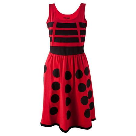 Doctor Who - Red Dalek Juniors A-Line Dress - Dalek Dress