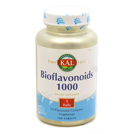 Bioflavonoid 1000 mg By KAL - 100  (Bioflavonoid Supplement)