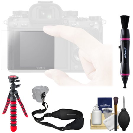 Sony PCK-LG1 Screen Protector Glass Sheet with Strap + Tripod + Kit for RX10 Series, RX100 Series, Alpha A7, A7R, A7S Series & A9 (Sony Screen Replacement Kit)