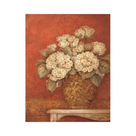 Gladding Villa - Villa Flora Hydrandeas Print Wall Art By Pamela Gladding
