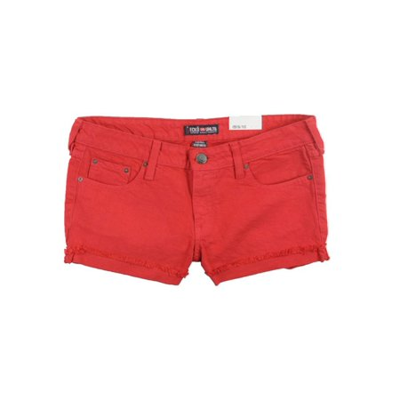 b1e4e954a1 Ecko Unltd. Womens Fold-up Y Cutoff Casual Denim Shorts coral 13/14 -  Juniors