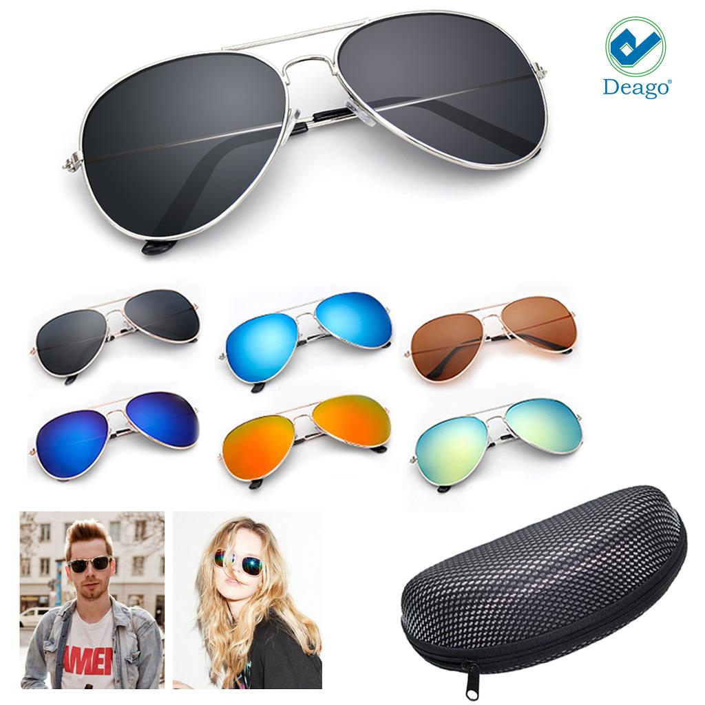 cb4b37dc862 Deago - Deago-Unisex Polarized Sunglasses Mirror Driving Aviator Outdoor  Sports Glasses Gold+Dark Blue - Walmart.com