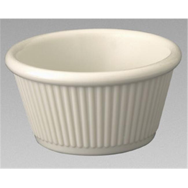 Gessner Products IW-0381A-WH 1. 5 oz.  Fluted Ramekin- Case of 12