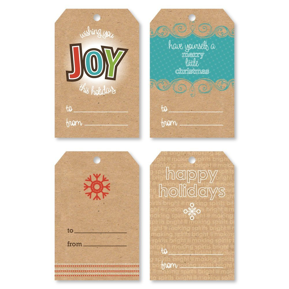 Holiday Gift Tags - Assorted Christmas Gift Tags - Set of 16