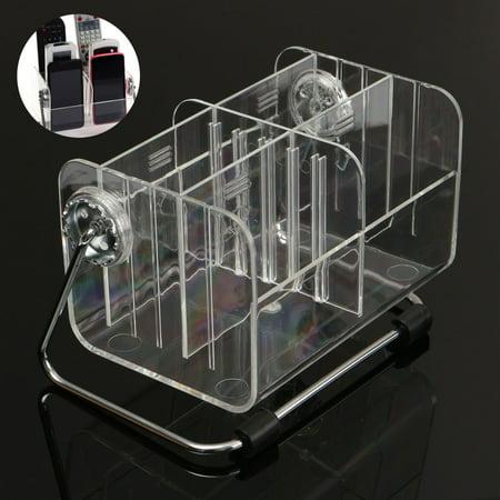 Clear Plastic Storage Boxes Remote Control Holder Desktop Organizers