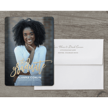 Personalized Graduation Invitation - Bright Future - 5 x 7 Flat Deluxe