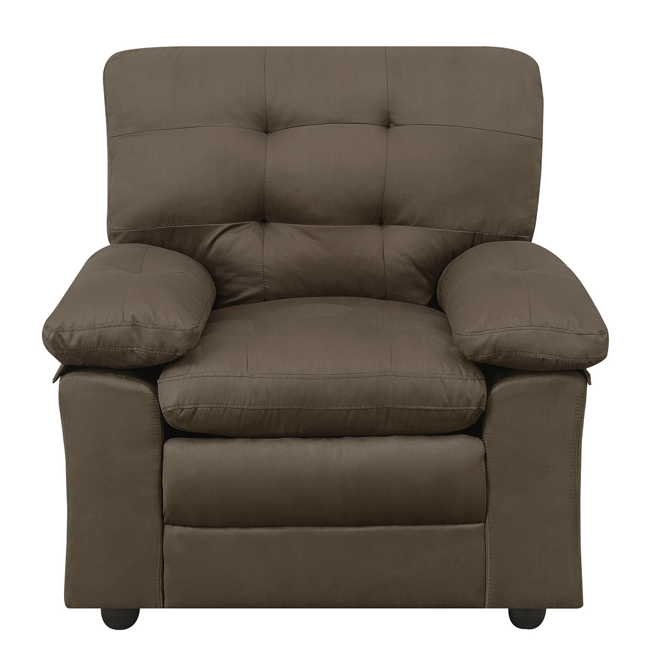 Mainstays Buchannan Chair Dark Chocolate Microfiber