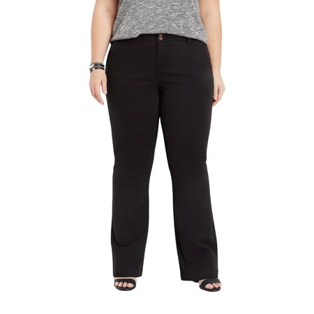 Black Chino Pants - Plus Size Black Chino Bootcut Pant