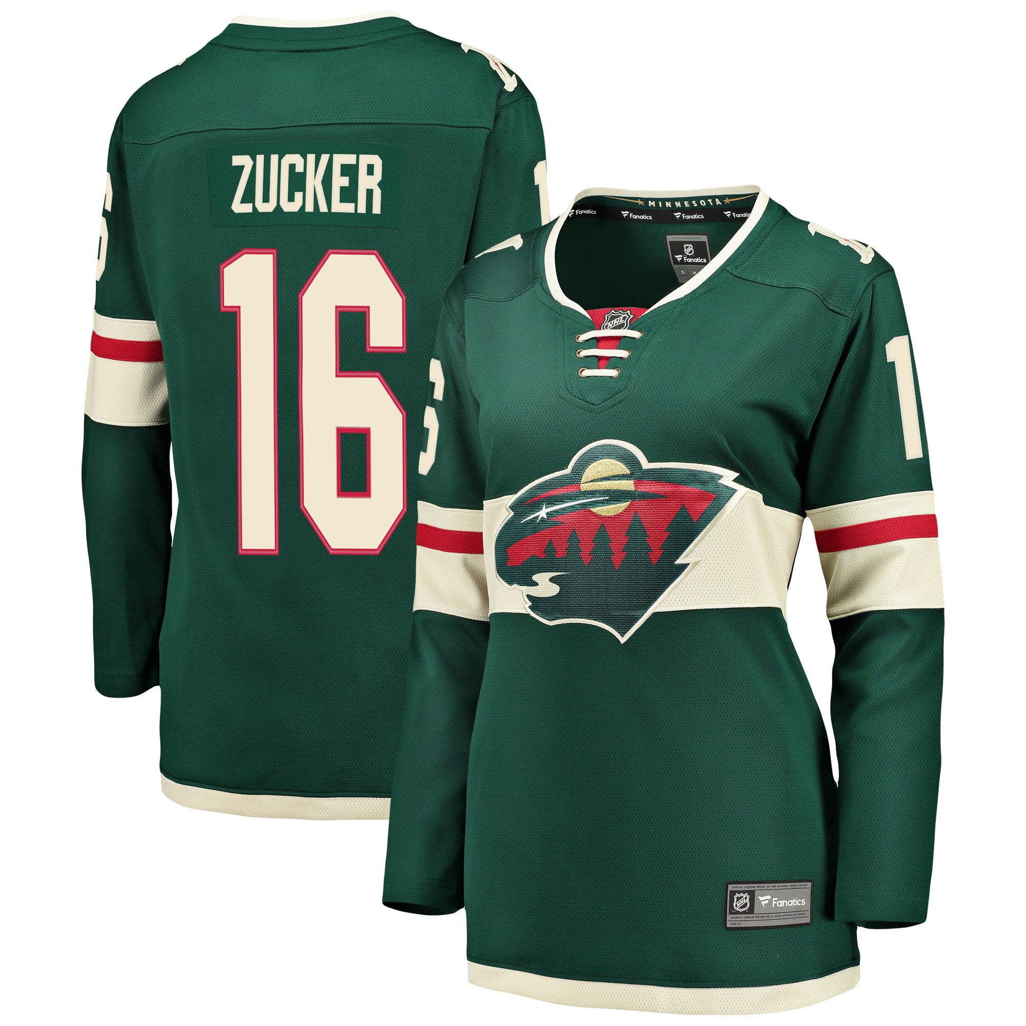 Jason Zucker Minnesota Wild Fanatics Branded Women's Breakaway Player Jersey - Green