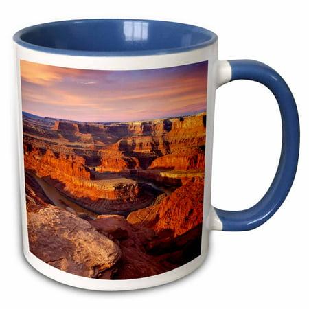 3dRose Colorado River, Dead Horse Point, Moab Utah, USA - US45 BJN0023 - Brian Jannsen - Two Tone Blue Mug, 11-ounce ()