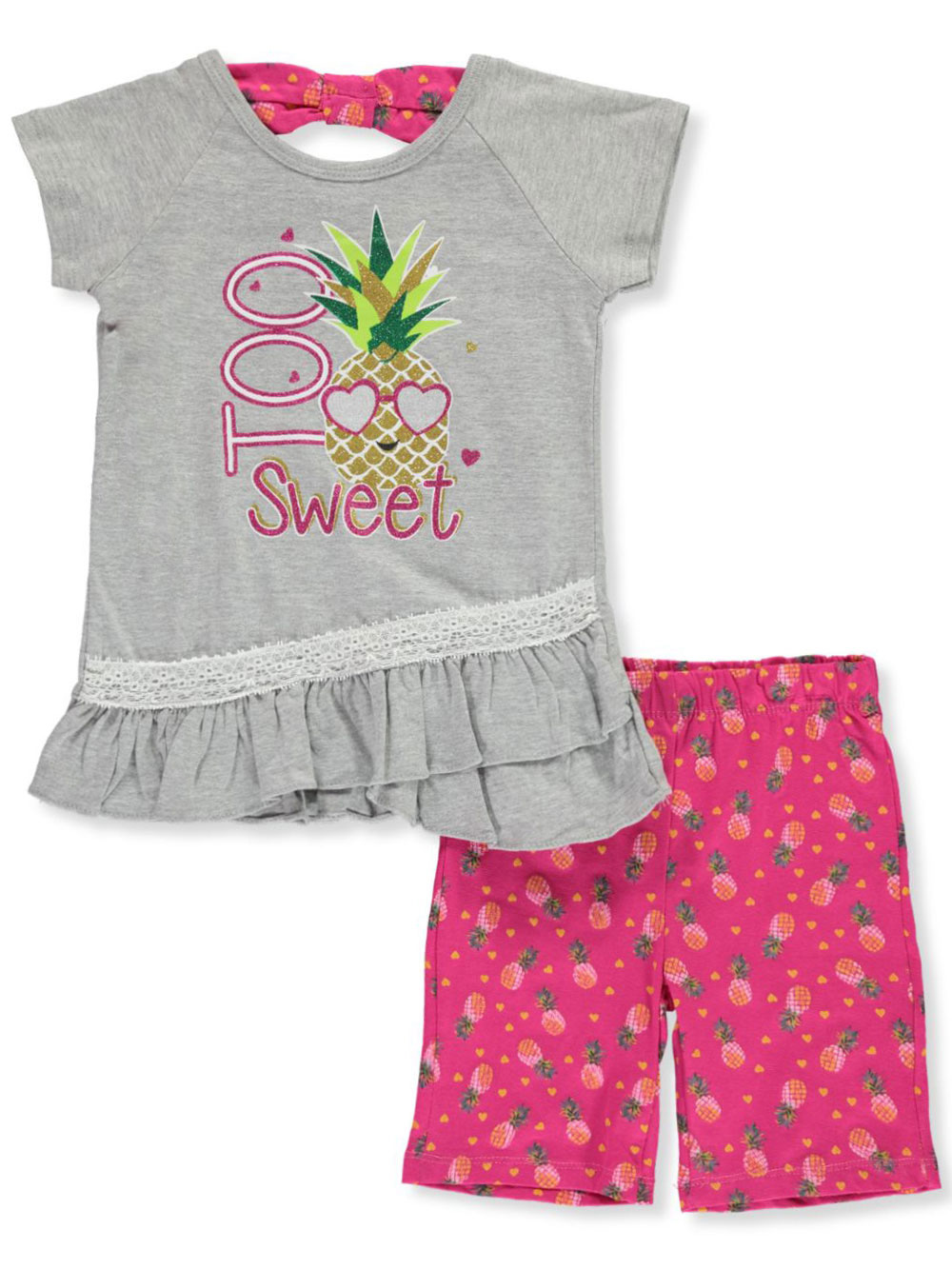 Real Love Girls 2-Piece Bike Shorts Set Outfit