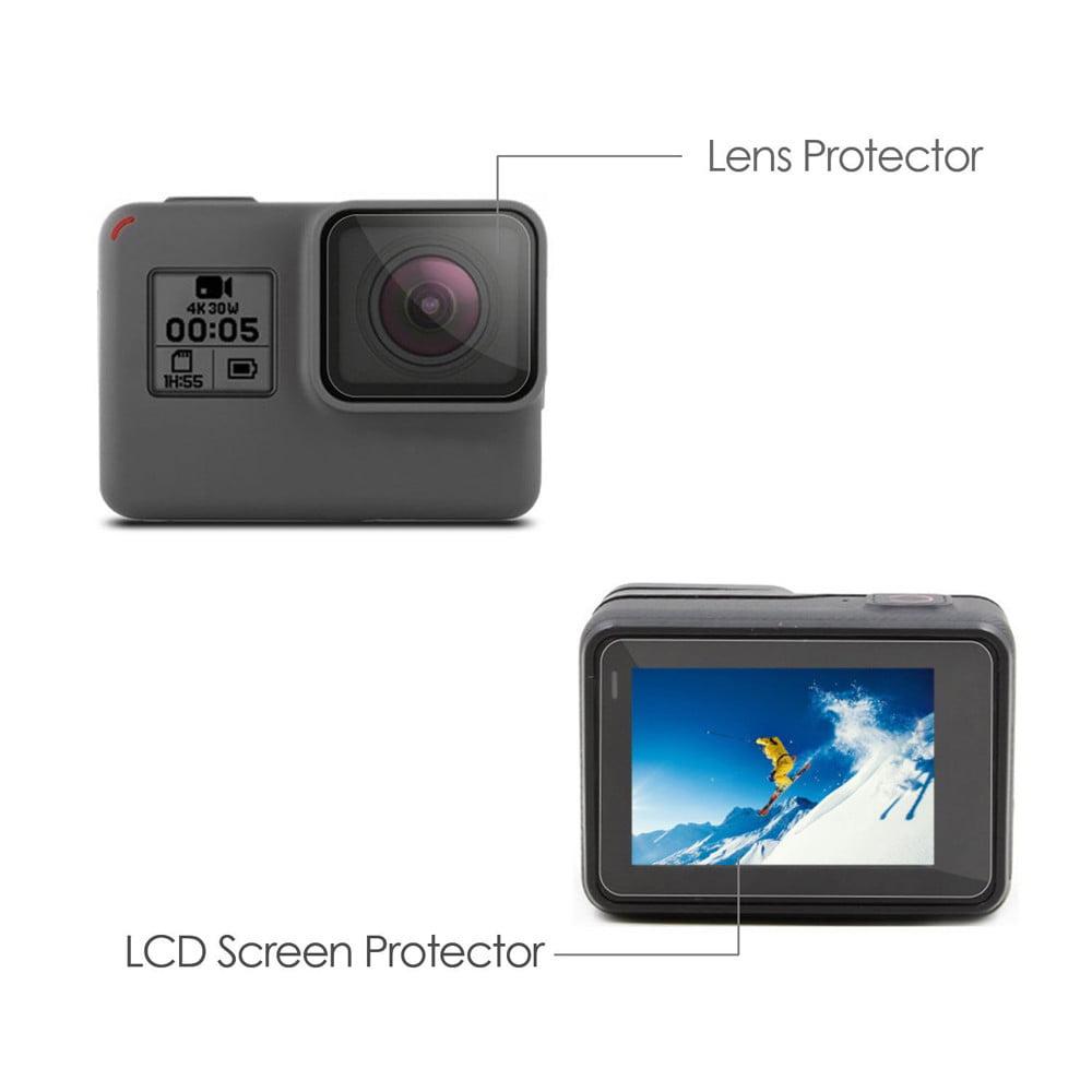 LCD Screen Protector + Lens Protrector Film for GoPro Hero 5