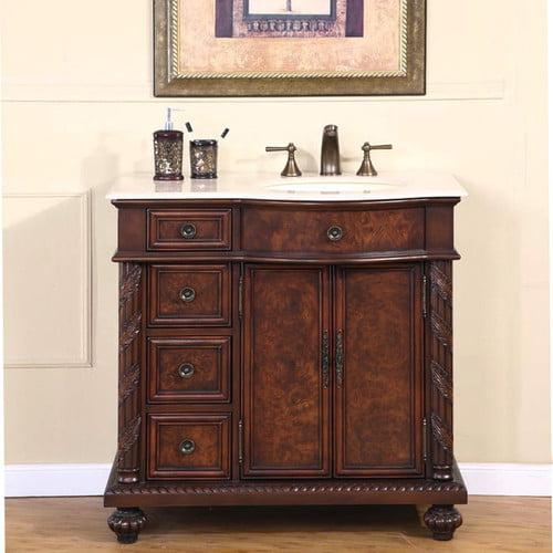 Silkroad Exclusive Butler 36'' Single Bathroom Vanity Set